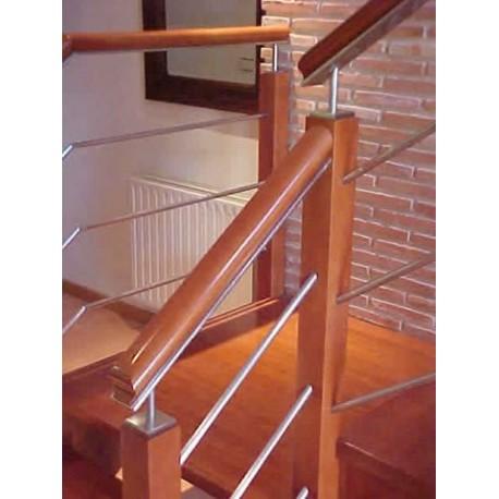 Jos berriales barandillas madera acero inoxidable - Barandillas de madera para interior ...